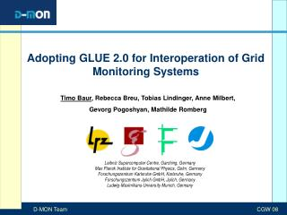 Adopting GLUE 2.0 for Interoperation of Grid Monitoring Systems