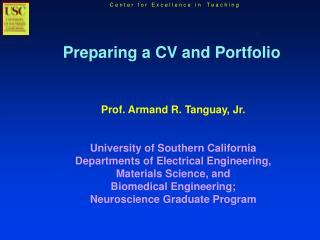 Preparing a CV and Portfolio