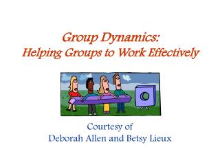 group work dynamics Group dynamics is a term coined by kurt lewin, a social psychologist he observed that people who work in groups usually adopt certain behaviours and roles.