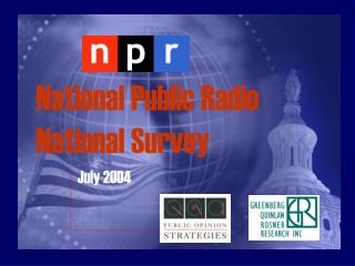 National Public Radio                    National Survey