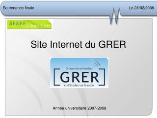 Site Internet du GRER