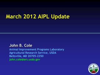 March 2012 AIPL Update