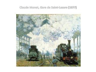 Claude Monet, Gare de Saint-Lazare (1877)