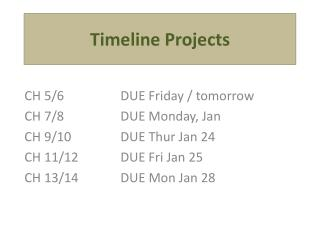 Timeline Projects