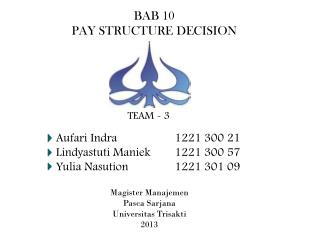 BAB 10 PAY STRUCTURE DECISION