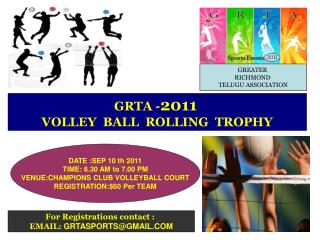 GRTA - 2011  VOLLEY  BALL  ROLLING  TROPHY
