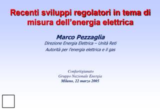 Quadro normativo relativo alla misura dell'energia elettrica