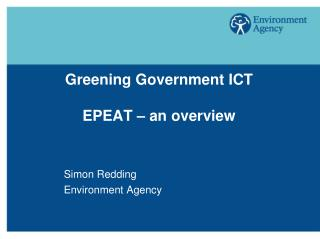Greening Government ICT  EPEAT   an overview