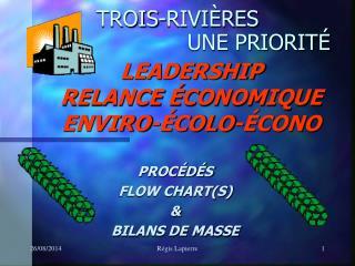 LEADERSHIP RELANCE ÉCONOMIQUE   ENVIRO-ÉCOLO-ÉCONO