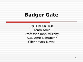 Badger Gate
