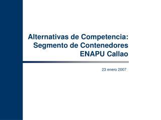 Alternativas de Competencia: Segmento de Contenedores ENAPU Callao