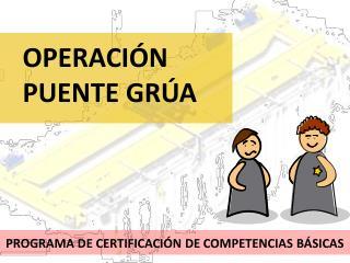PROGRAMA DE CERTIFICACI�N DE COMPETENCIAS B�SICAS