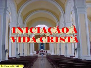 INICIA��O � VIDA CRIST�