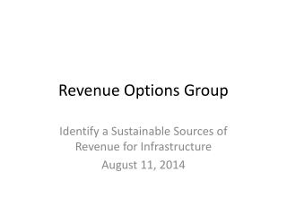 Revenue Options Group