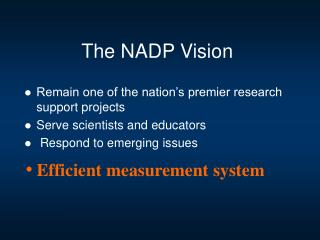 The NADP Vision