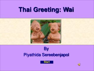 Thai Greeting: Wai