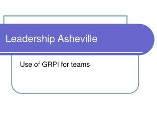 Leadership Asheville