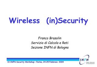 Wireless  (in)Security