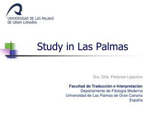 Study in Las Palmas