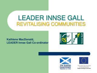 LEADER INNSE GALL  REVITALISING COMMUNITIES