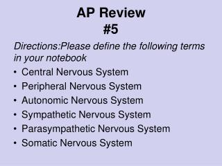 AP Review #5