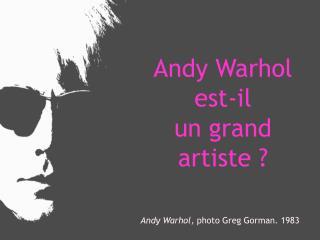 Andy Warhol est-il un grand artiste ?
