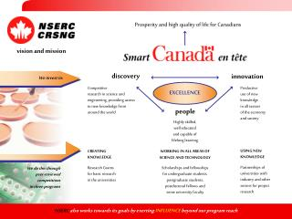 NSERC also works towards its goals by exerting INFLUENCE  beyond our program reach