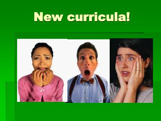 New curricula!