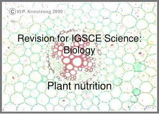 Revision for IGSCE Science: Biology