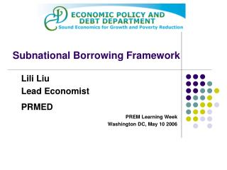 Subnational Borrowing Framework