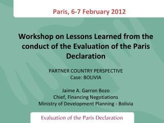 Paris, 6-7 February 2012