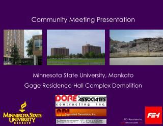 Community Meeting Presentation Minnesota State University, Mankato