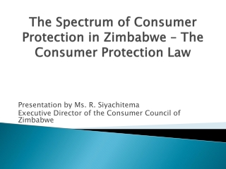 Best Practices in Consumer Protections