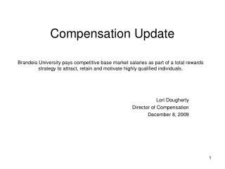 Compensation Update