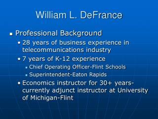William L. DeFrance