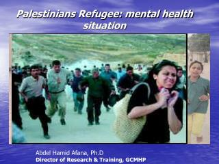Palestinians Refugee: mental health situation