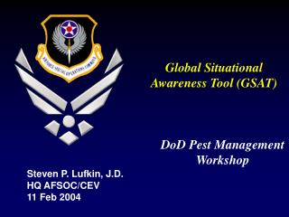 Global Situational Awareness Tool (GSAT)