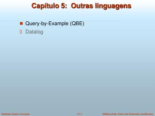 Capítulo 5:  Outras linguagens