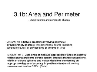 3.1b: Area and Perimeter
