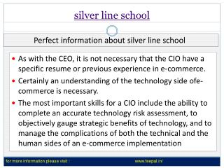 view about silver online school