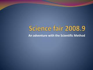 Science fair 2008.9
