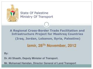 State Of Palestine Ministry Of Transport