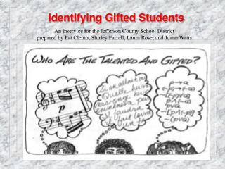 Identifying Gifted Students