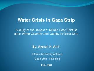 Water Crisis in Gaza Strip
