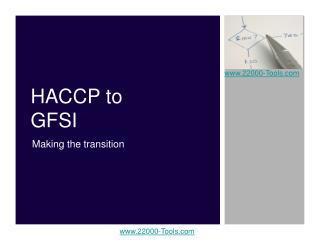 HACCP to GFSI