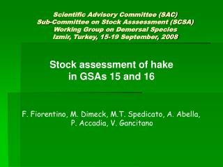 Stock assessment of hake  in GSAs 15 and 16