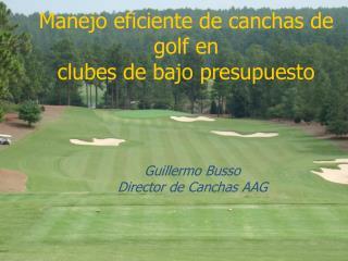 Manejo eficiente de canchas de golf en  clubes de bajo presupuesto