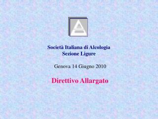 Società Italiana di Alcologia Sezione Ligure