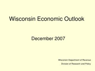 Wisconsin Economic Outlook