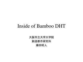 Inside of Bamboo DHT